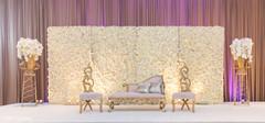 Indian wedding ceremony stage decor.