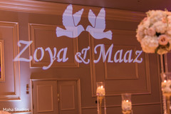 Personalized indian wedding lights decor.