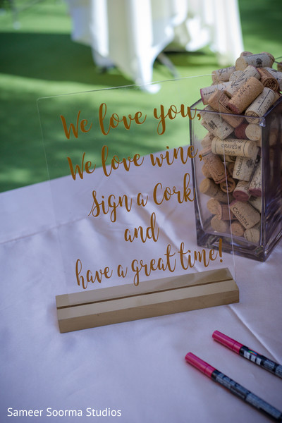 Message from the newlyweds to the guests
