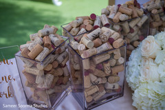 Corks for guests to write a message on