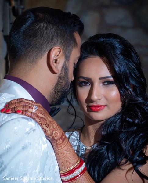 Maharani staring at the camera