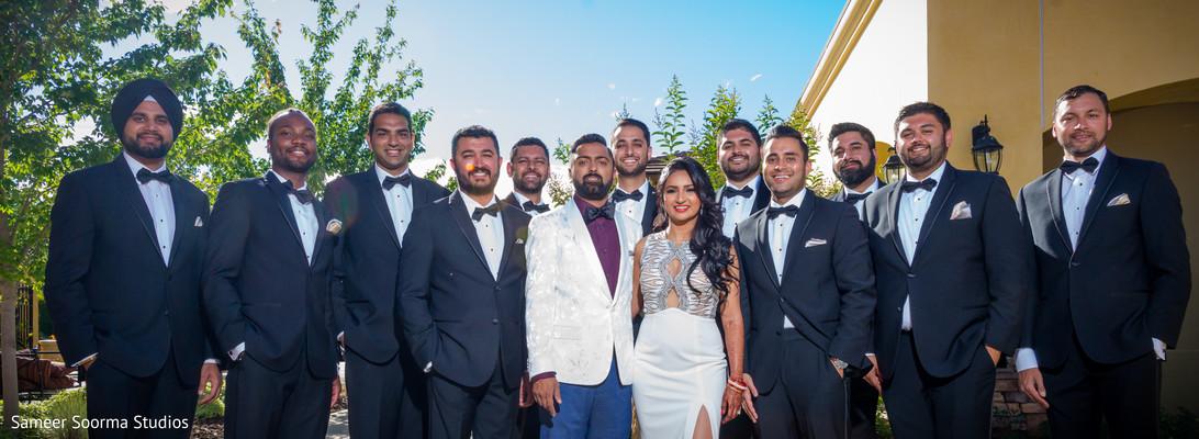 Amazing shot of Indian wedding groomsmen