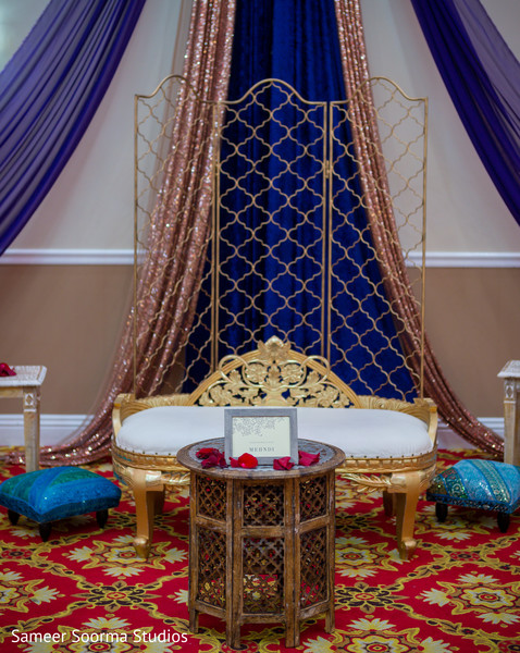 Stage decor of the Indian wedding