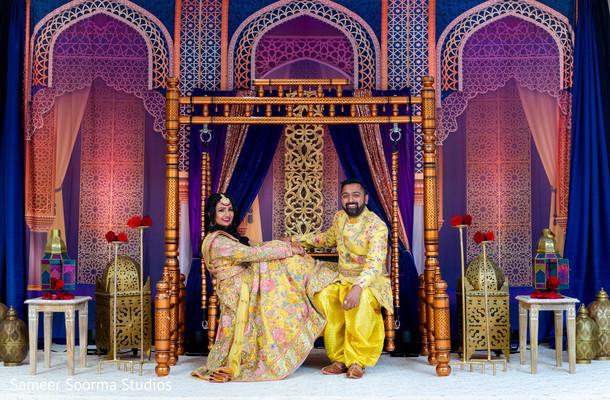 Ravishing couple by the decoration