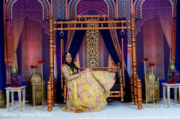 Maharani posing with her lengha