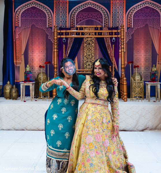 Fun capture of Indian bride with special guest