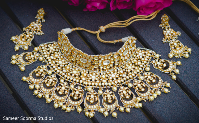 Jewelry details of the Indian bride