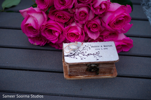 Beautiful details of the Indian wedding favors