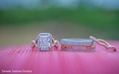 Beautiful rings being displayed
