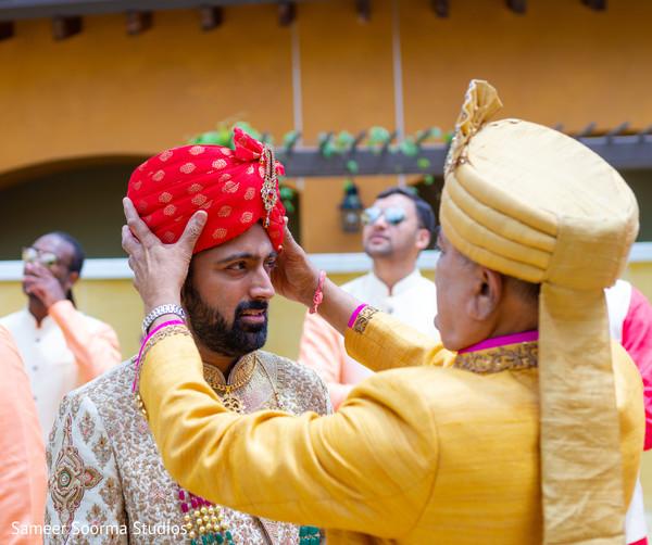 Beautiful red turban
