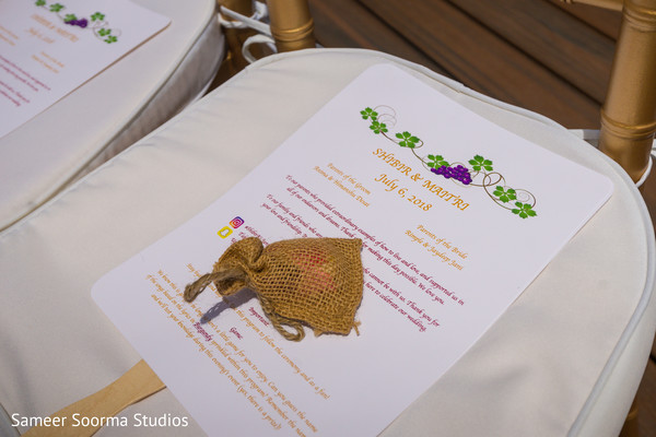Beautiful indian wedding programs and favors