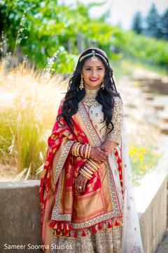 Indian bride looking beautiful