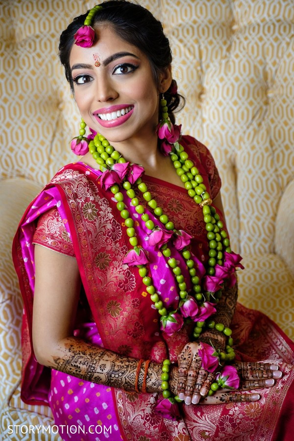 See this lovely Indian bride on her Gaye Holud.