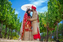 Romantic indian couple portrait