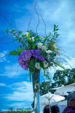 Lovely indian wedding floral arrangements