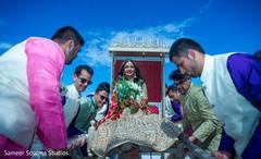 Ravishing indian bride making her entrance