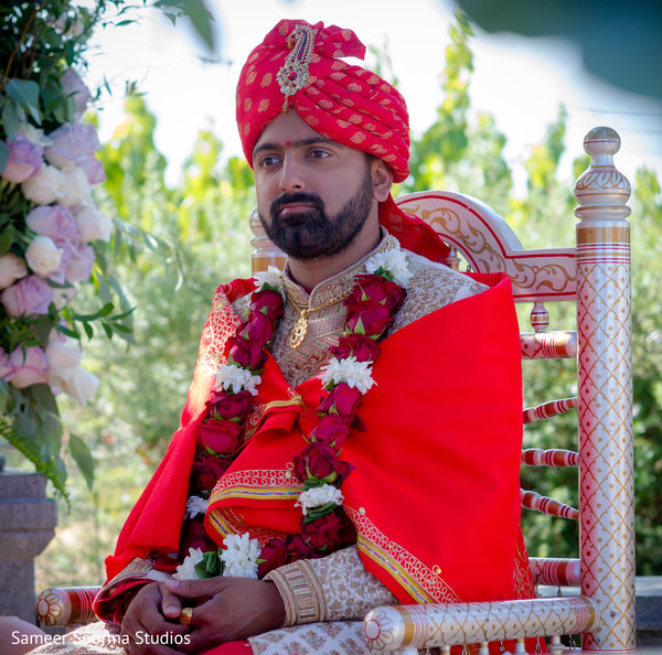 Indian groom ready to tie the knot