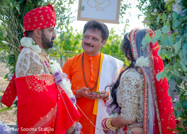 Indian couple during their wedding ceremony