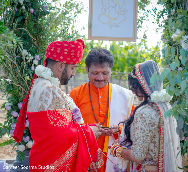 Indian wedding rings ceremony