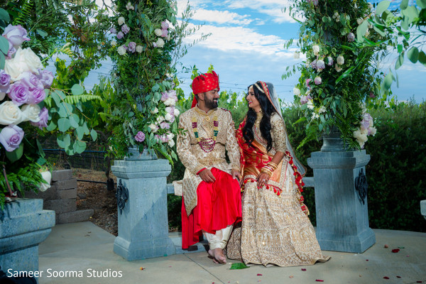Maharani and Raja by the arrangements