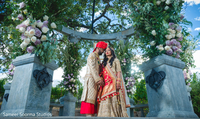 Photo shoot details from the newlyweds