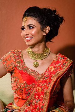 Indian bride smiling for portraits