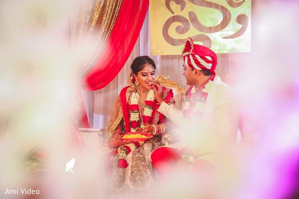 Indian lovebirds kansar bhakshan ritual.