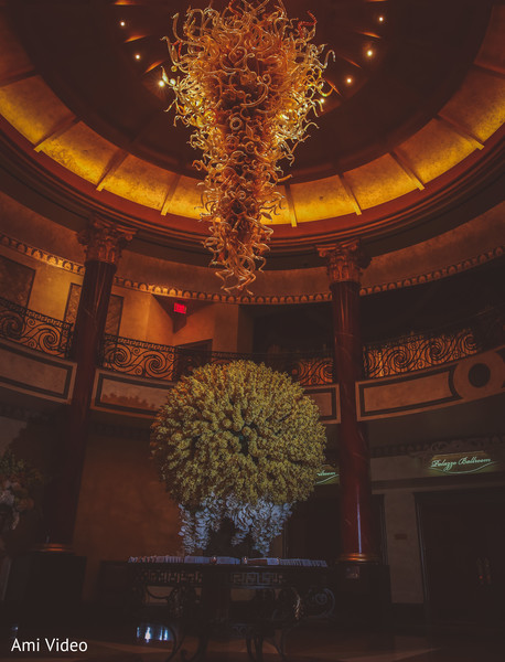 Flowers decoration for Indian wedding venue.