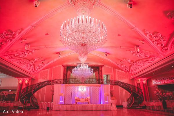 Incredible Indian wedding chandeliers decor.