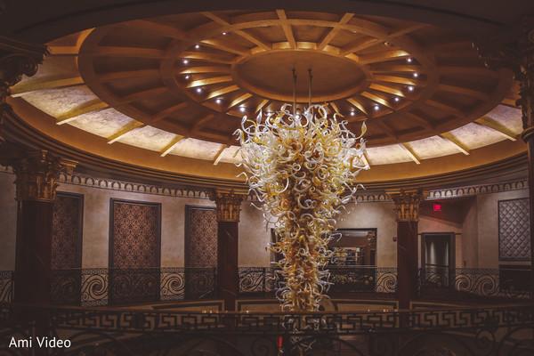 Stunning Indian wedding lamp decoration.