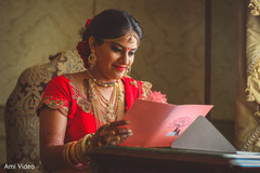 Gorgeous indian bridal ceremony style.