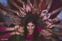Incredible Indian bridesmaids henna art and maharani's capture.