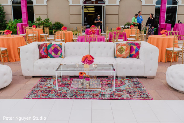 Colorful colors of the Indian wedding venue
