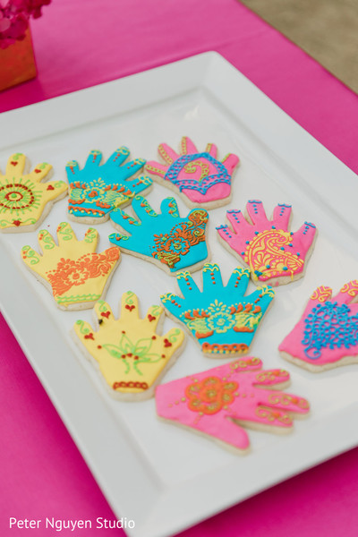 Lovely mehndi cookies for the guests