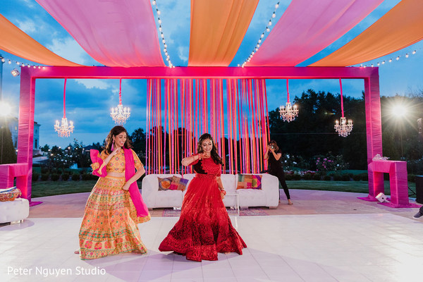 Indian bride dancing with special guest