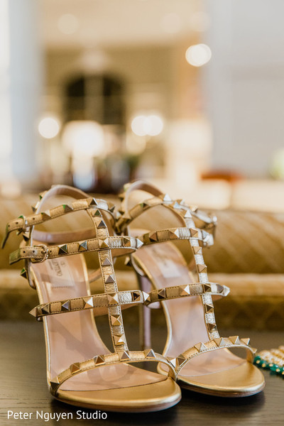 Detail of shoes used by the Maharani