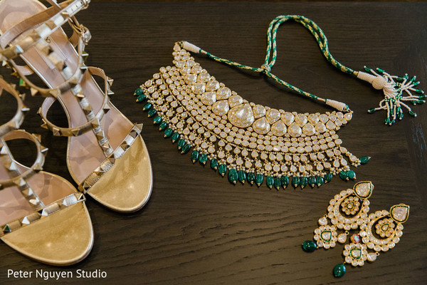 Details of accessories used by the Indian bride