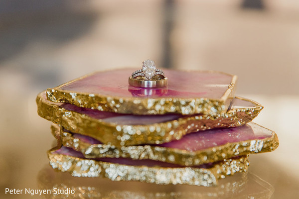 Bridal ring being displayed