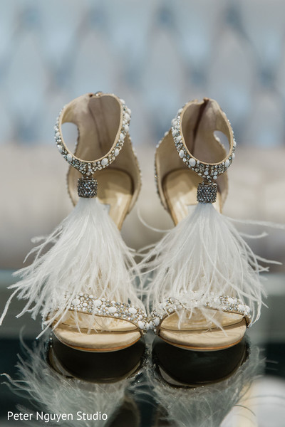 See this ravishing shoes used by the Indian bride