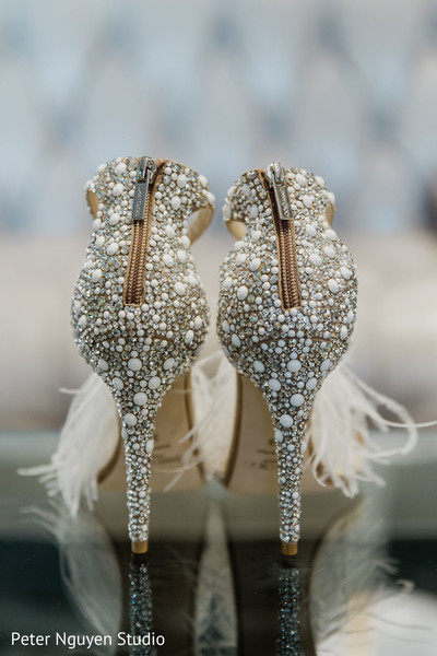 Details of shoes used by Indian bride