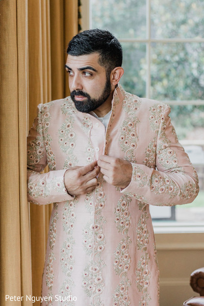 """Indian groom getting ready to say """"I do"""""""