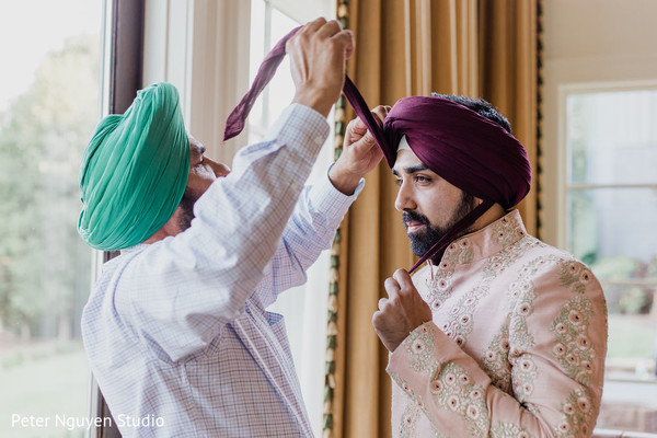 Indian groom prior to the ceremony