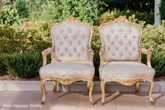 Chairs to be used by Indian couple