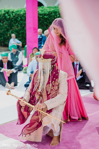 Indian groom during the ceremony