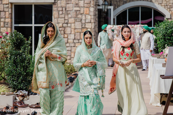 Beautiful guests during the ceremony entrance