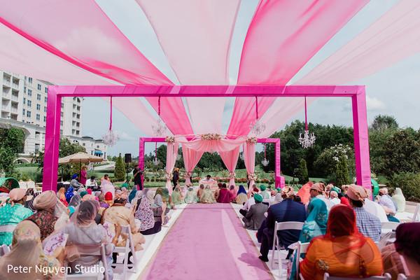 Beautiful decor of the Indian wedding ceremony