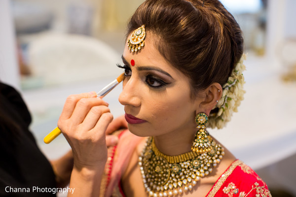 "Indian bride getting ready to say ""I do"""
