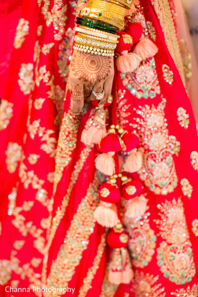 Details of Maharani's lengha
