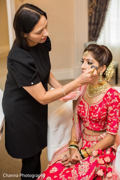 Makeup artist assisting the Maharani