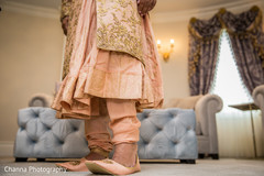 Indian groom about to go to the ceremony